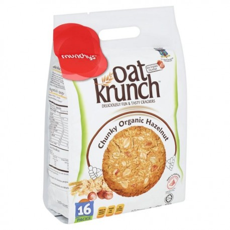 Munchy's Oat Krunch Crackers 16x26g - Chunky Hazelnut