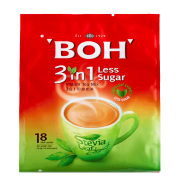 BOH 3in1 Instant Tea Mix Less Sugar Stevia Leaf Extract 18x16.5g