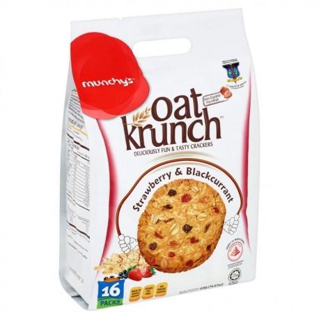 Munchy's Oat Krunch Crackers 16x26g - Strawberry