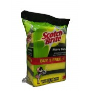 3M Scotch-Brite Heavy Duty Scouring Sponge 4's (B3F1)