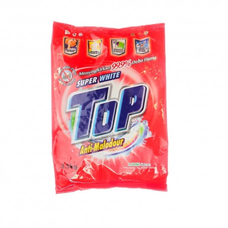 Top Anti-Malodour Washing Powder 2.5Kg - Super White