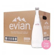 Evian Mineral Water 750ml x 12 (GLASS)