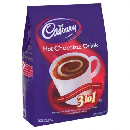 Cadbury 3in1 Hot Chocolate Drink 30gx15s