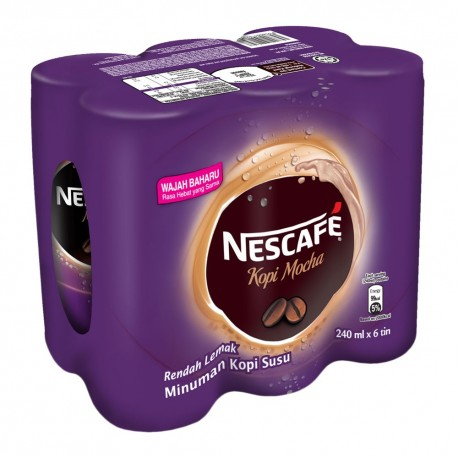 Nestle Nescafe Coffee Mocha 240ml x 6
