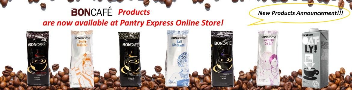 BONCAFE products are now available at our Pantry Express Online Store!